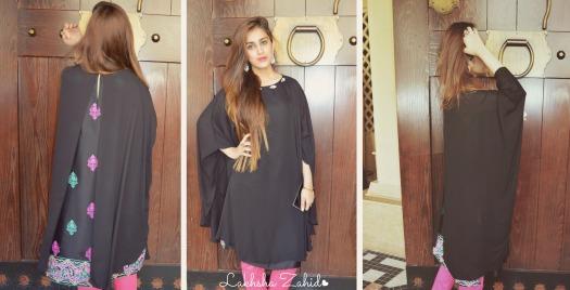 Lakhsha Zahid in Ayesha Ellahi Cape